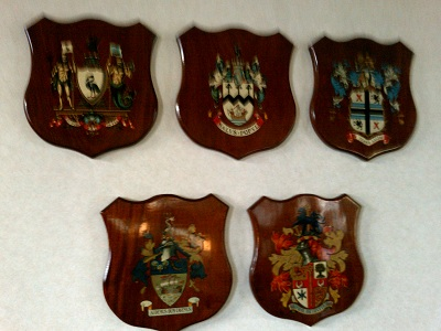 Merseyside council's coats of arms at Merseytravel HQ