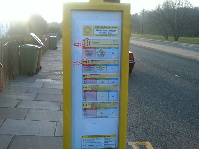 Compton Road/Hoylake Road bus stop timetable