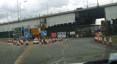 Roadworks on the Wirral from 2011