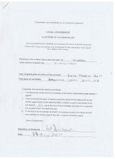 Candidate Declaration (Barbara Sinclair) Claughton ward 2011 Wirral Borough Council agent: Barbara Poole