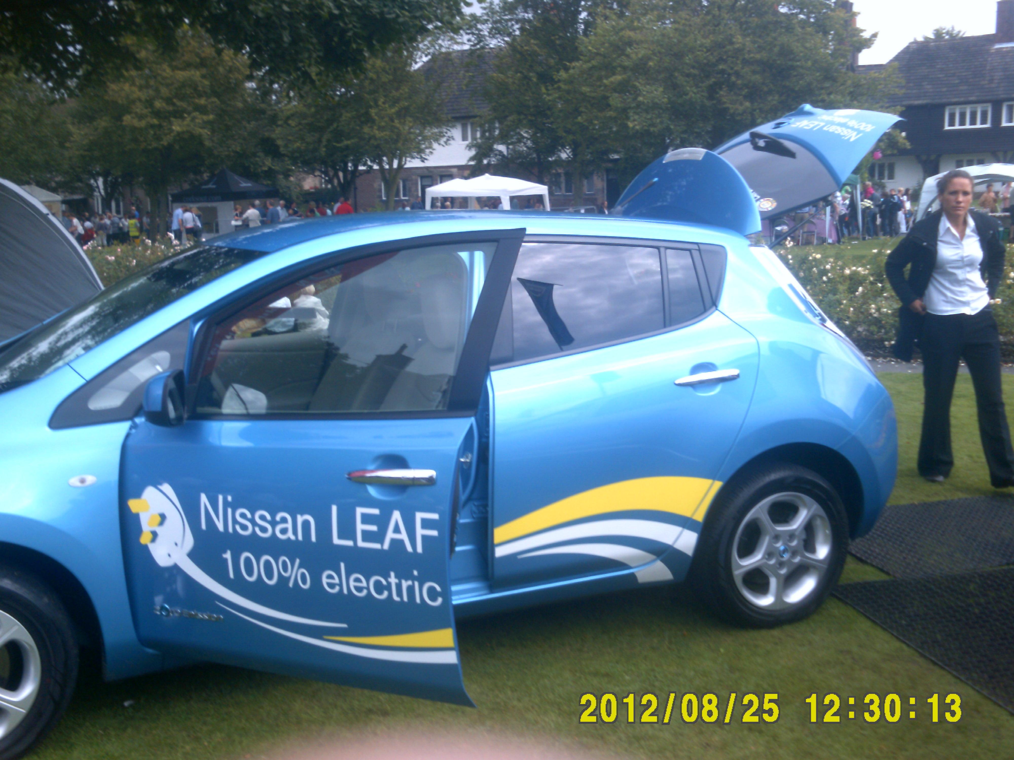 Port Sunlight Summer Festival 2012 25th August 2012 Port Sunlight Summer Festival 101 Nissan Leaf Electric Car