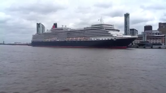 Queen Elizabeth Cruise Liner visits Liverpool