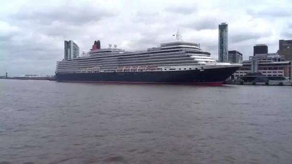 Queen Elizabeth Cruise Liner visits Liverpool