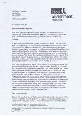 Letter to Cllr Steve Foulkes from Local Government Association Page 1 of 6