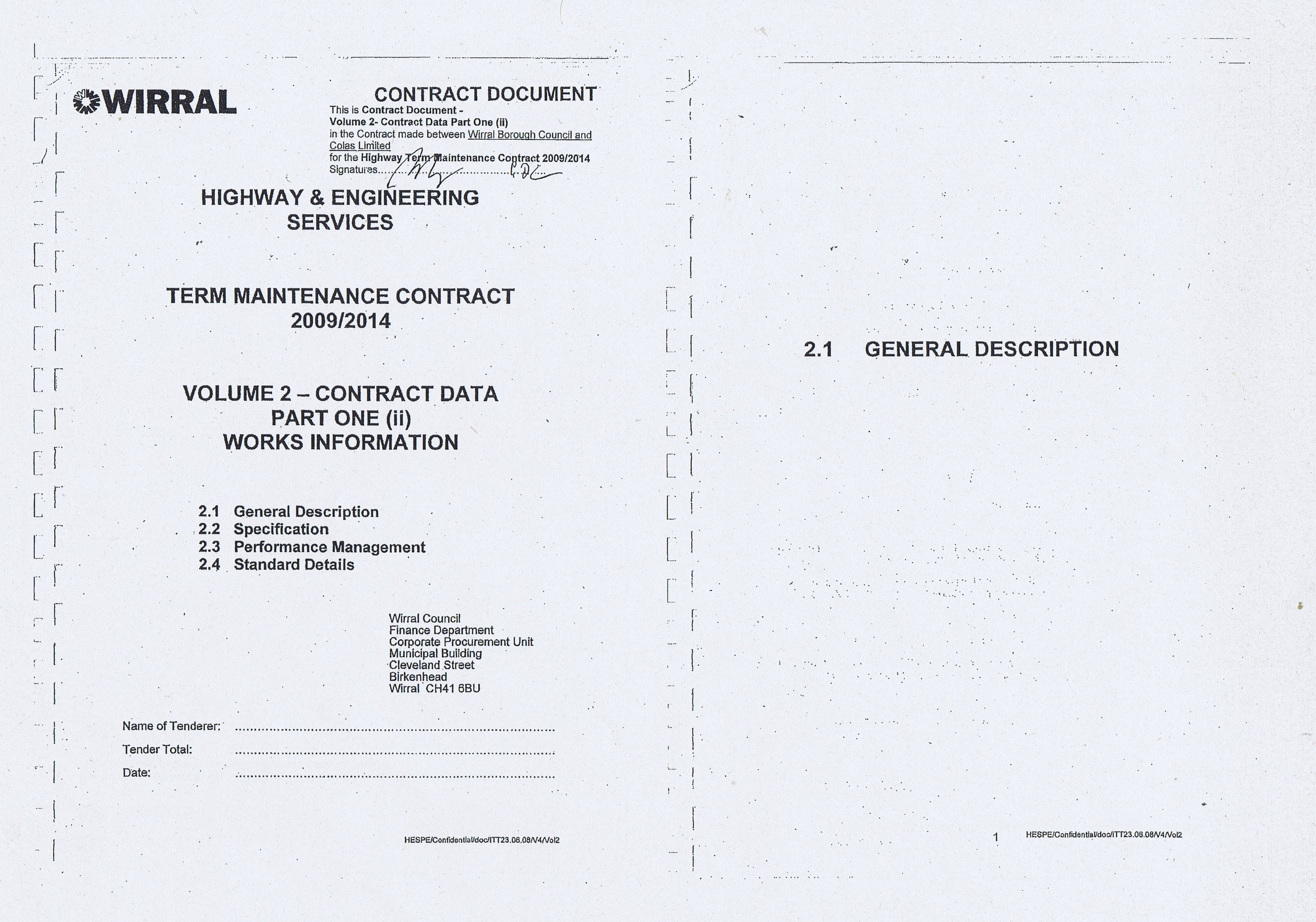 Wirral Council Colas Highways and Engineering Services Contract Page 18