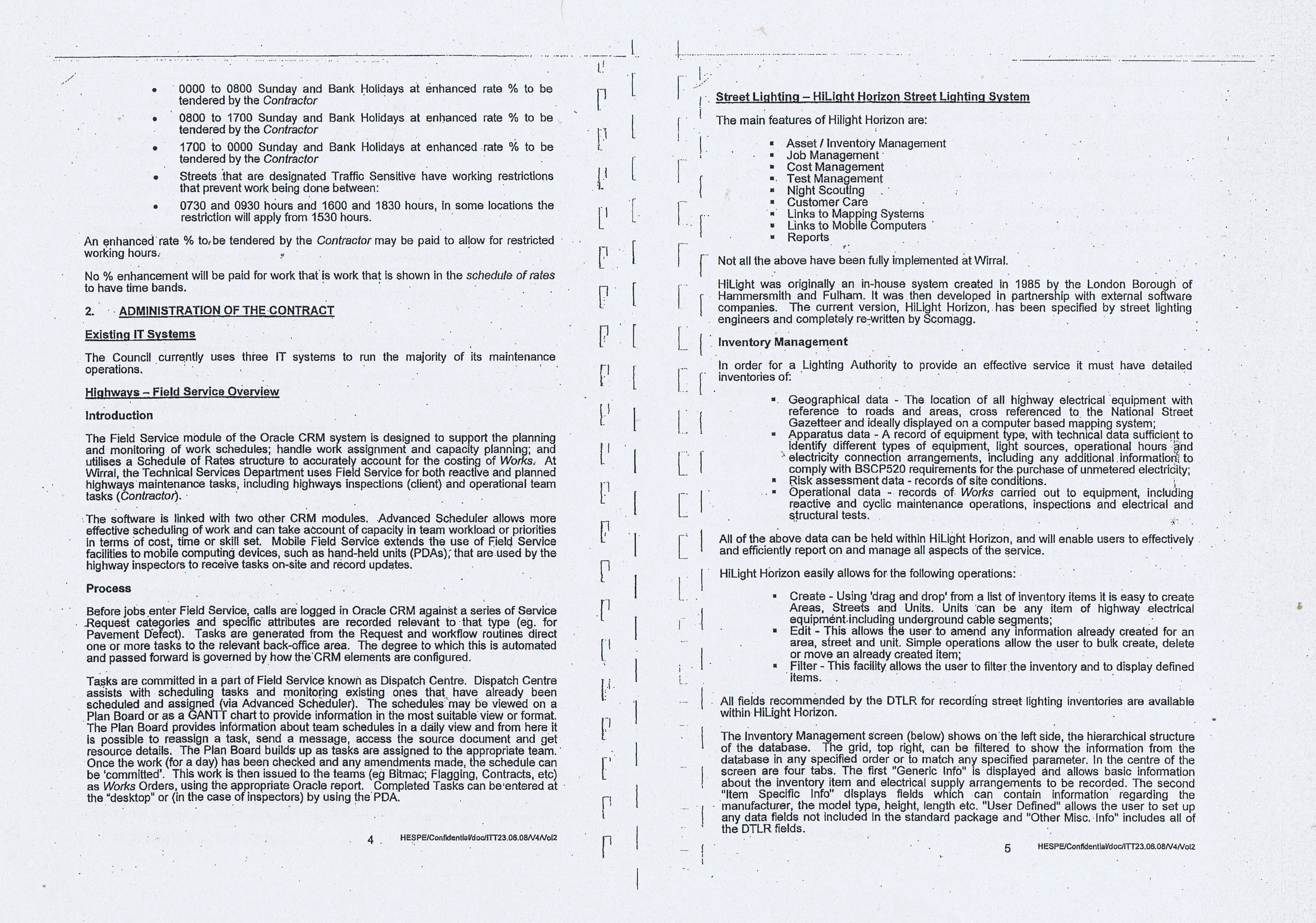 Wirral Council Colas Highways and Engineering Services Contract Page 20