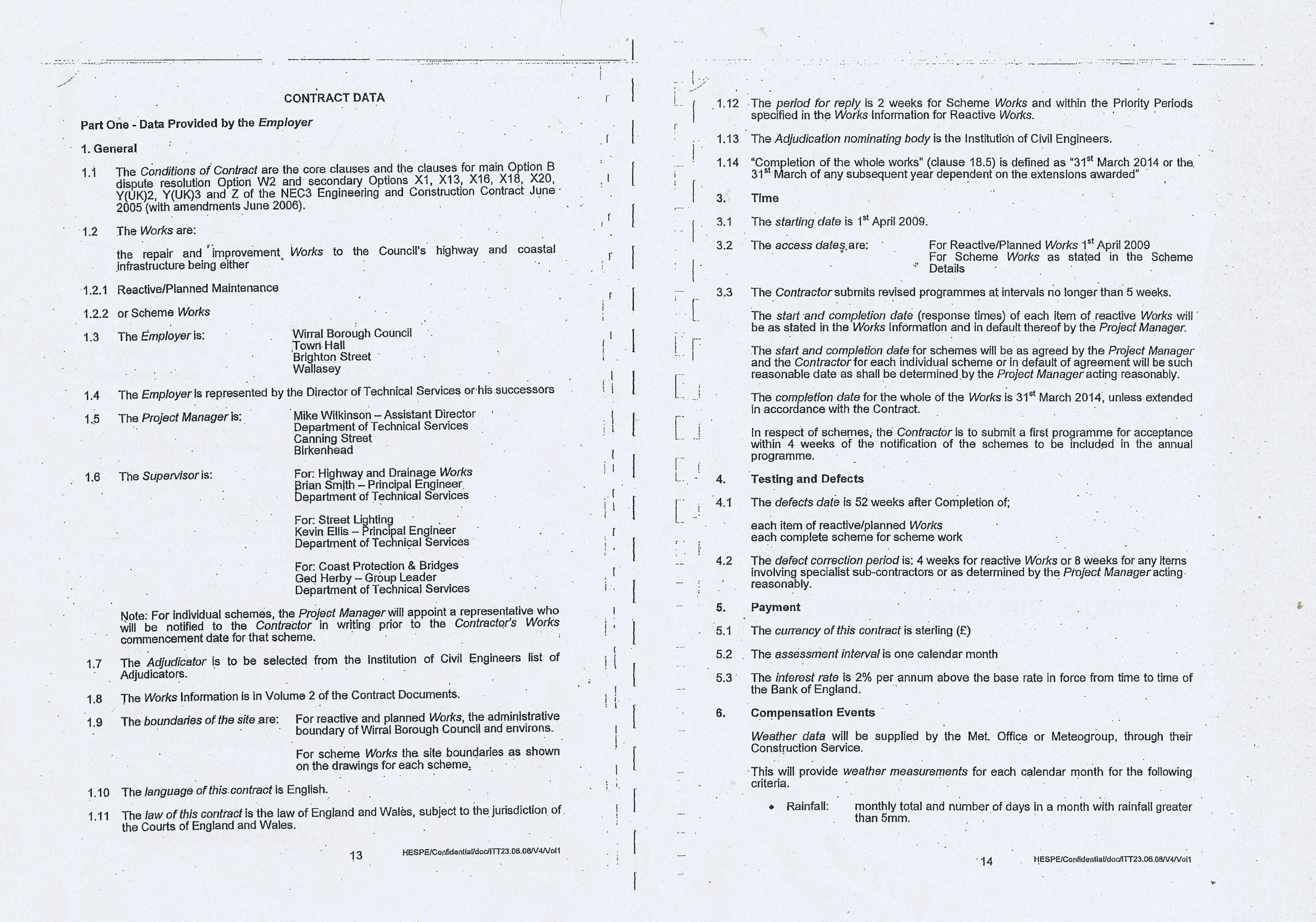 Wirral Council Colas Highways and Engineering Services Contract Page 6