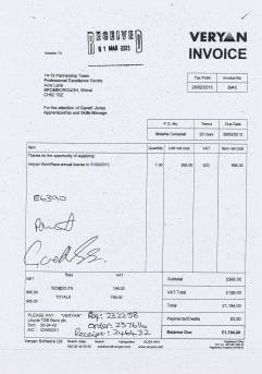 Wirral Council Veryan invoice February 2013