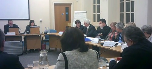 Councillor Moira McLaughlin asks a question about staffing at Lyndale School (Coordinating Committee, Wirral Council, 27th February 2014)