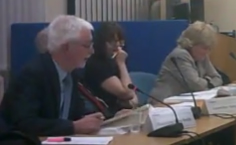 Councillor Tony Smith (Cabinet Member for Children and Family Services) explains to Wirral Council's Cabinet about the changes to school meals cost and entitlement