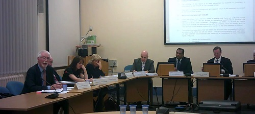 Councillor Tony Smith (Cabinet Member for Childrens Services) talks at a meeting of Wirral Council's Cabinet about deciding to consult on closing Lyndale School (16th January 2014)
