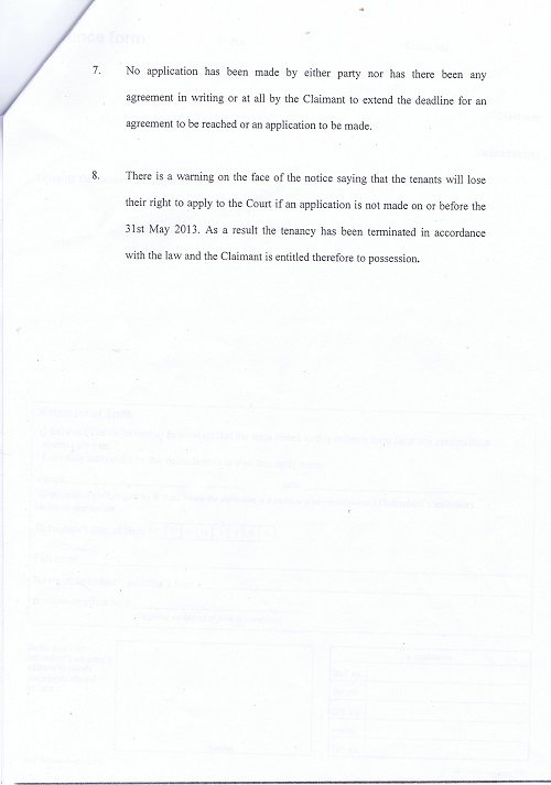 Wirral Council v Kane & Woodley Particulars of Claim page 3 of 3 thumbnail