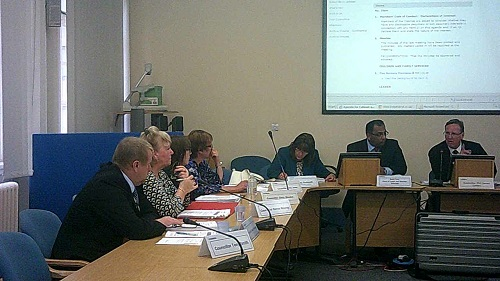 Councillor Phil Davies at Wirral Council's Cabinet meeting of the 19th June 2014 making announcements (including one on Lyndale School)