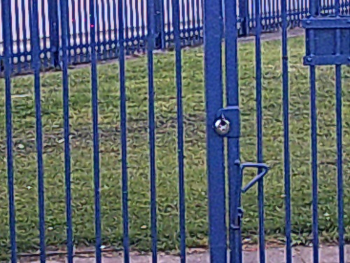 Gautby Road Play Area padlock Bidston 5th August 2014