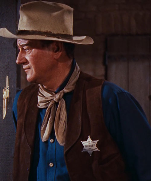 John Wayne as the sheriff in Rio Bravo
