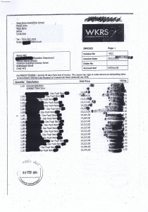 West Kirby Residential School invoice November 2013 Page 1 of 3 £535098