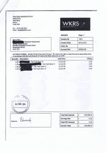 West Kirby Residential School invoice November 2013 Page 3 of 3 £535098