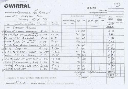 Cllr Ann McLachlan expenses claim 2013 2014 page 5