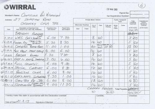 Cllr Ann McLachlan expenses claim 2013 2014 page 6
