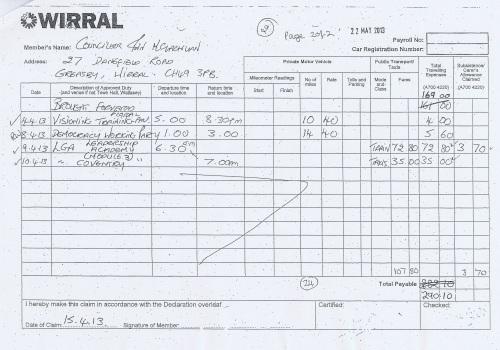 Cllr Ann McLachlan expenses claim 2013 2014 page 9