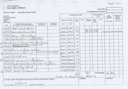 Cllr George Davies expense claim 2013 2014 page 6
