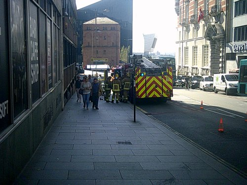 Merseyside Fire and Rescue crew in James Street, Liverpool 2nd September 2014