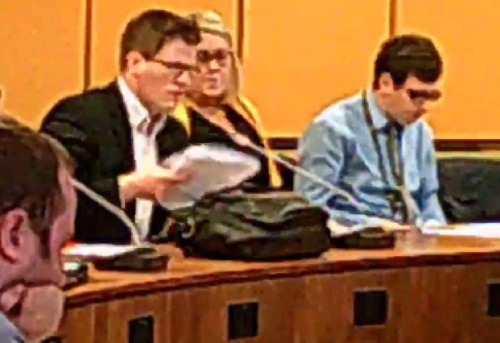 A councillor asks a question about Merseytravel's whistleblowing policy at a public meeting of its Audit and Governance SubCommittee 24th November 2014