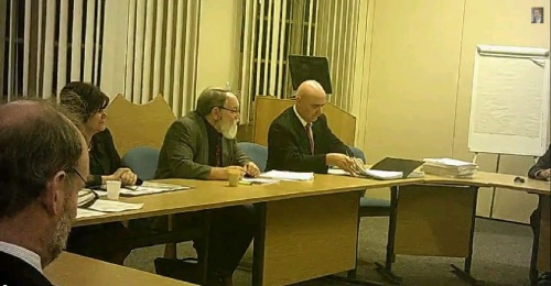 Employment and Appointments Committee 27th October 2014 Committee Room 2 L to R Cllr Gilchrist Lib Dem, Chris Hyams Head of HR, Cllr Adrian Jones Labour Chair, Andrew Mossop Committee Services and Graham Burgess outgoing Chief Executive
