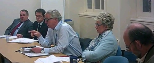 Employment and Appointments Panel (Chief Executive) Committee Room 3, Wallasey Town Hall, 24th November 2014 L to R Martin Denny (LGA), David Slatter (Penna PLC), Cllr Jeff Green (Conservative), Cllr Lesley Rennie (Conservative) and Cllr Phil Gilchrist (Lib Dem)