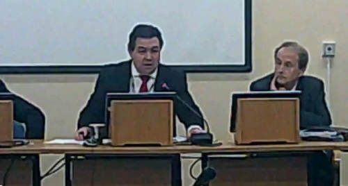 Pensions Committee 17th November 2014 Committee Room 1 Wallasey Town Hall L to R Peter Wallach Cllr Paul Doughty Colin Hughes