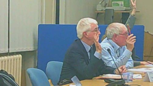 Cabinet 17th December 2014 vote on Lyndale School closure L to R Cllr Tony Smith Cllr George Davies Cllr Ann McLachlan