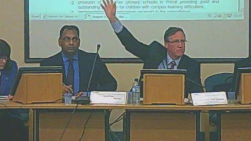Cabinet 17th December 2014 vote on Lyndale School L to R Shirley Hudsepth Surjit Tour Cllr Phil Davies Graham Burgess