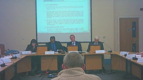 Cabinet (Wirral Council) 8th December 2014 Background Shirley Hudspeth, Surjit Tour, Cllr Phil Davies & Graham Burgess foreground trade union representative Agenda item 4 Council Budget Consultation Findings