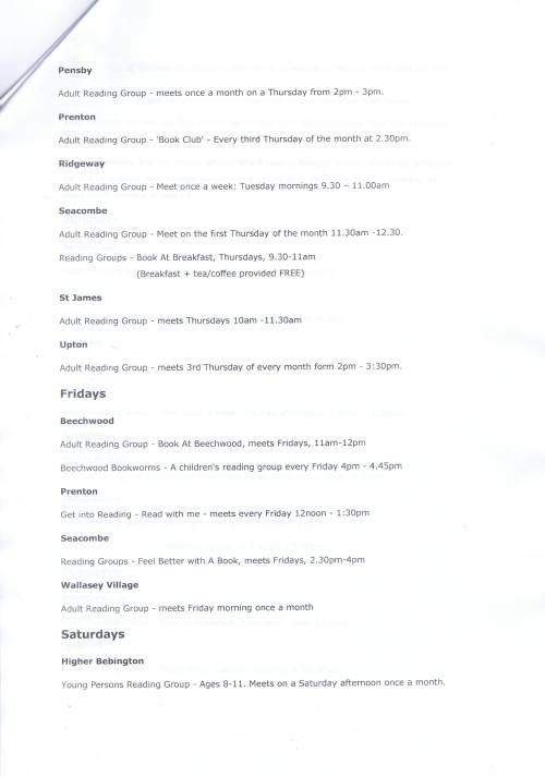 Groups at Community Libraries Page 3 of 3