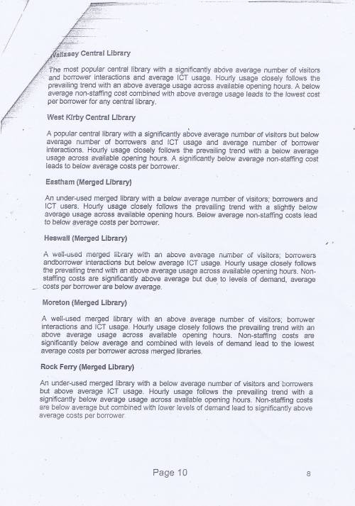 Panel Community Libraries budget option Wirral Council page 10