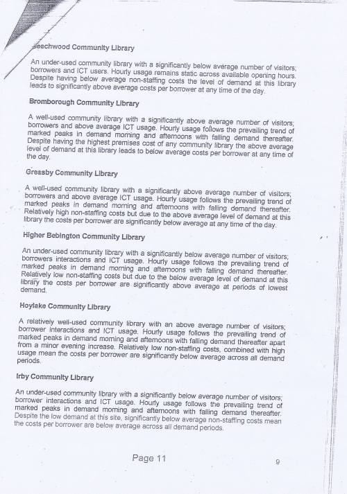 Panel Community Libraries budget option Wirral Council page 11