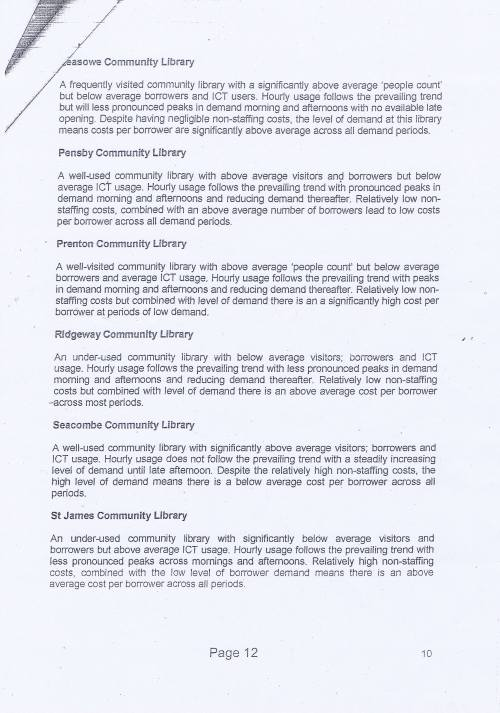 Panel Community Libraries budget option Wirral Council page 12