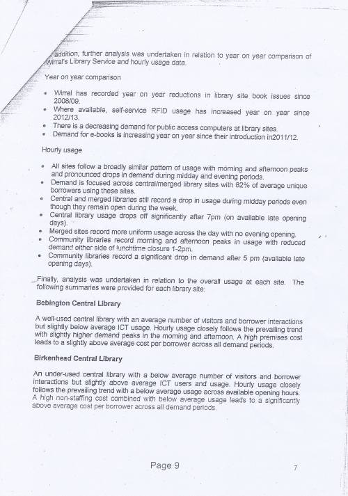 Panel Community Libraries budget option Wirral Council page 9