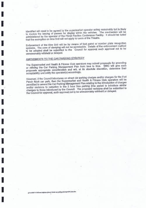 Wirral Council lease Neptune Wirral Limited Neptune Developments Limited Neptune Projects Limited 20th June 2011 for New Brighton Phase II draft car parking management plan page 2 of 2