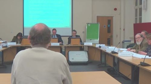 Cllr Phil Gilchrist talking about Lyndale School at a public meeting of Wirral Council's Cabinet 16th January 2015