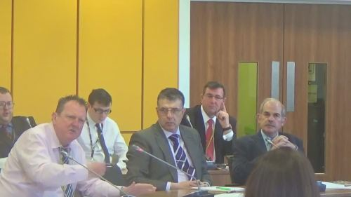 Councillor Steve Foulkes at a meeting of Merseytravel's Performance and Review Subcommittee 23rd March 2015