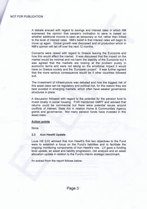 Investment Monitoring Working Party Minutes 5th March 2015 Page 3