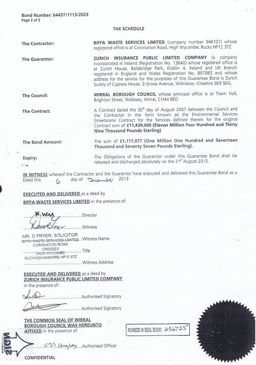 Biffa Waste Services Limited Bond 64457 1113 2023 Page 2 of 2