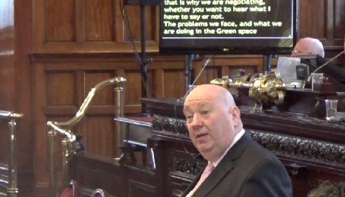 Mayor Joe Anderson responds on the issue of green spaces in Liverpool 8th April 2015