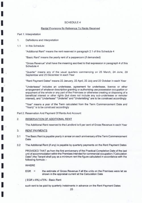 New Brighton Marine Point lease Wirral Council Neptune Wirral Ltd Additional Rent Page 1