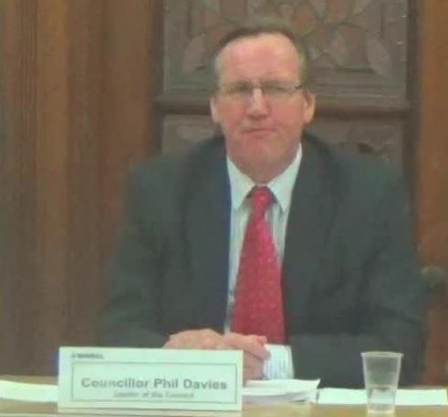 Councillor Phil Davies at a Cabinet meeting earlier this year
