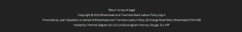 Labour website imprint