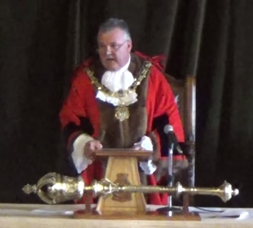 Mayor of Wirral Cllr Les Rowlands 18th May 2015