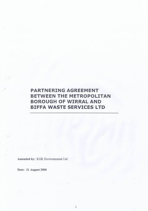 Wirral Council Environmental Streetscene Services Contract page 115 Partnering Agreement between the Metropolitan Borough of Wirral and Biffa Waste Services Ltd