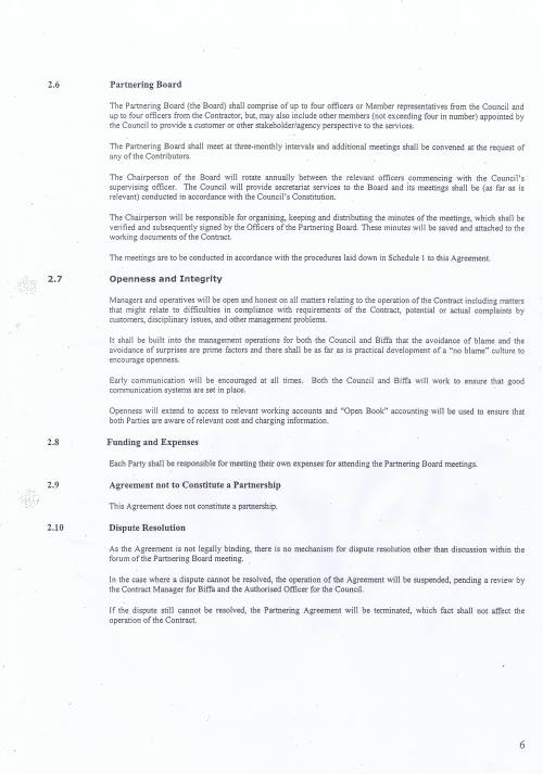Wirral Council Environmental Streetscene Services Contract page 120 Terms of Reference for the Partnering Agreement
